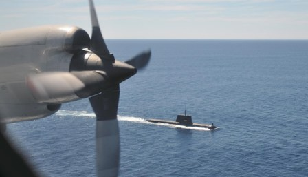 Pictured: One of the current generation Collins Class submarines of the RAN at sea. Photo: US Navy.