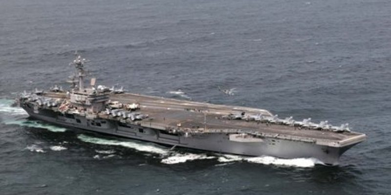 The USS George H.W. Bush during Ex Saxon Warrior off the UK. Photo: US Navy.