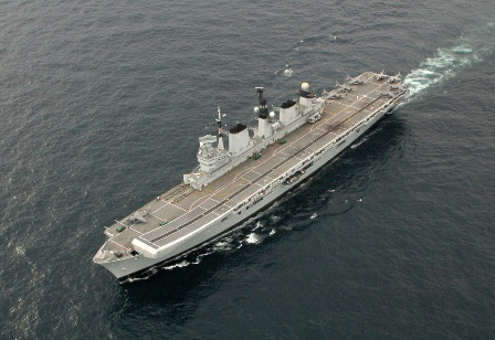HMS Illustrious with Harriers embarked prior to her current, recently completed, refit. Photo: Dave Billinge.