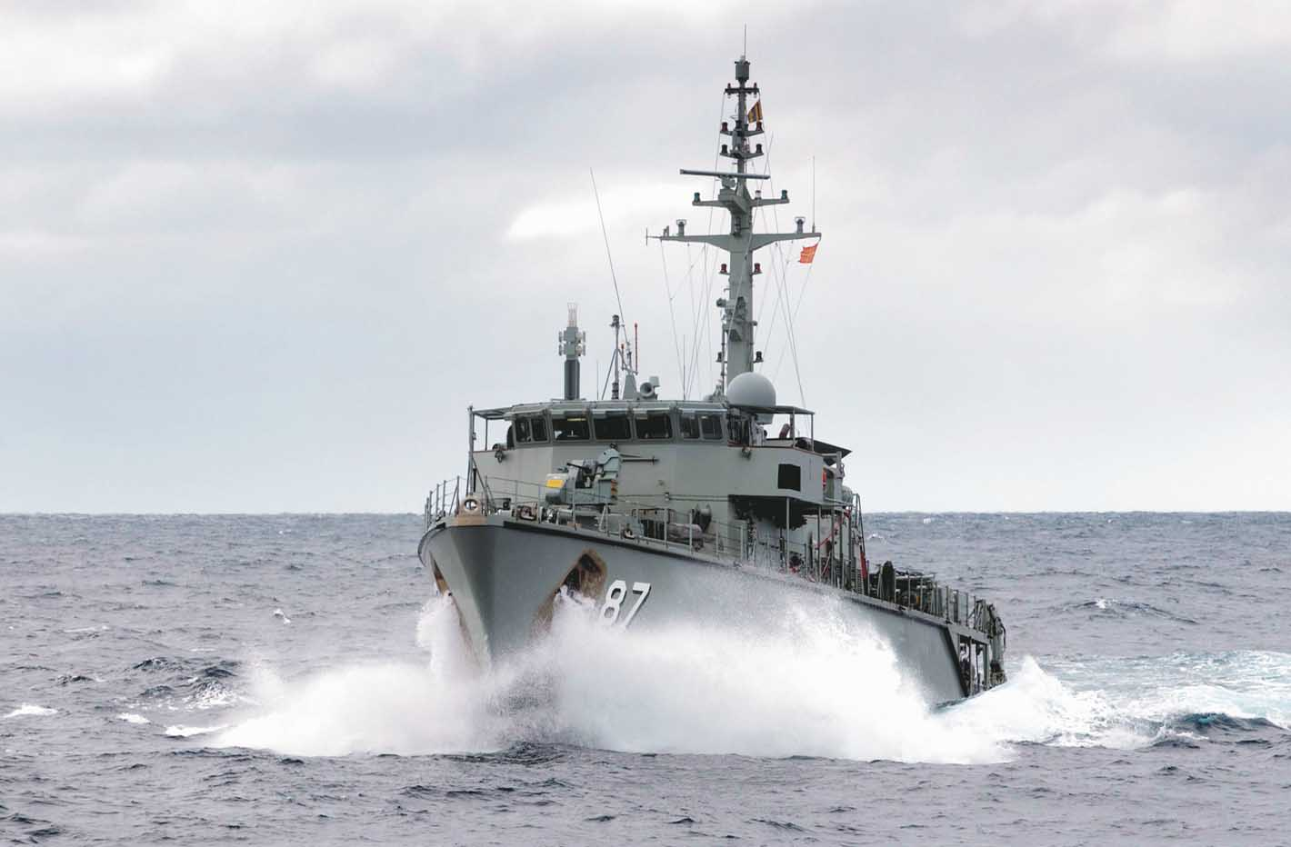 Pictured: The Australian mine-hunter HMAS Yarra, final unit of the six-ship Huon Class. Photo: Royal Australian Navy.
