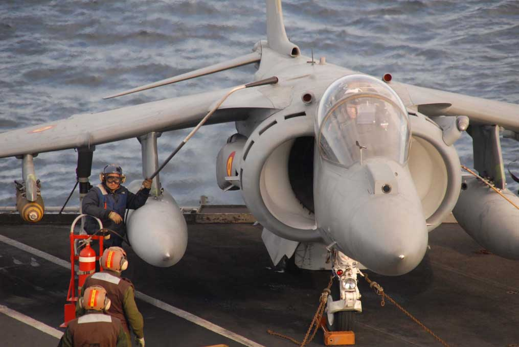 A Spanish Harrier strike jet of the kind that will fly from the Juan Carlos. Photo: US Navy.