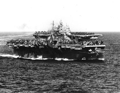 Pictured: Rise of a maritime power - USS Langley (foreground) and other ships of a carrier task force in the Pacific, December 1944. Photo: USNHHC.
