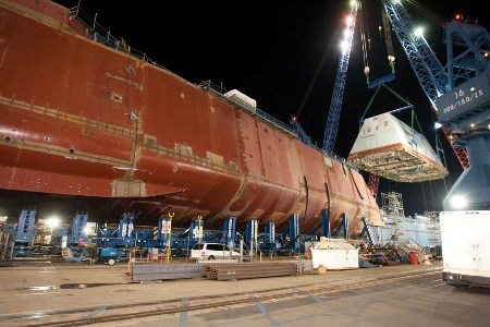 battleship takes shape