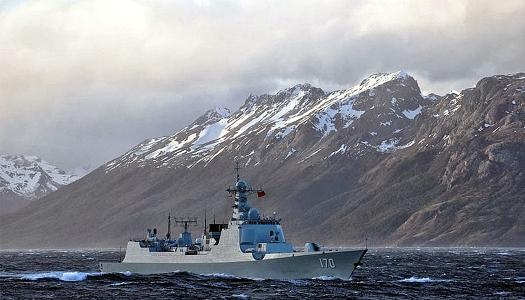 Chinese DDG in Strait Magellan