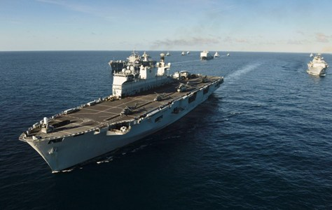 HMS OCEAN ON EXERCISE